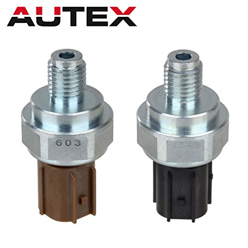 AUTEX Transmission 2nd 3rd Oil Pressure Sensor Switch Solenoid Compatible With Honda Acura 33PSI (BLACK) + 27PSI (BEIGE) 28600-P7W-003 28600-P7Z-003 Acura Oil Pressure Switch