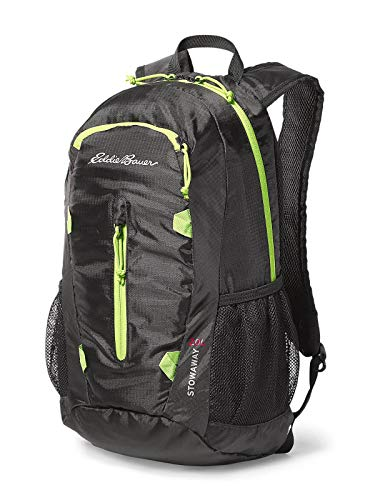 Eddie Bauer Unisex-Adult Stowaway Packable 20L Daypack, Black Regular ONESZE