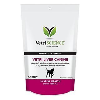 VetriScience Laboratories - Vetri Liver Canine, Liver Support Formula for Dogs, 60 Bite Sized Chews