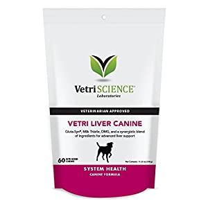 VetriScience Laboratories – Vetri Liver Canine, Liver Support Formula for Dogs, 60 Bite Sized Chews