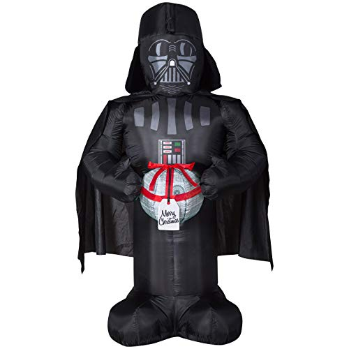 Airblown Inflatable 6 FT Tall Christmas Star Wars Darth Vader Holding Death Star Ornament -