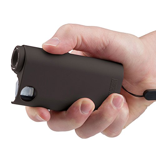 Compact Stun Device (World's Only All-In-One Stun Gun - Pepper Spray - Flashlight, Guard Dog Security Olympian, Black)