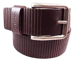 GP&MAX Italian Leather Belt -Toro Collection - 40 MM - Mod. 4214 - Dark Brown 32-36