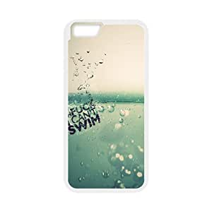 Iphone 6 Plus Case I Cant Swim by Leemarson for White Iphone 6 Plus (5.5)inch Screen lmar608724