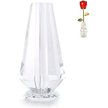 Amazon Unique Clear Glass Rose For Single Long Stem Gold Dipped