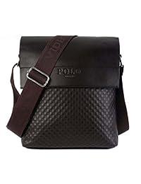 2017 Men's Patent Leather Braid Plaid Bucket Business Casual Shoulder Bag 18 colors