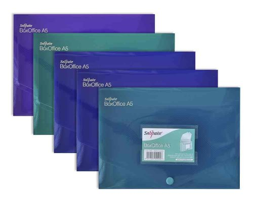 (Snopake BoxOffice A5 Storage Box Pack of 5 Pieces - Assorted Electra Colours)
