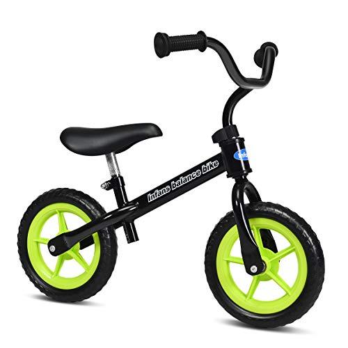 INFANS Kids Balance Bike, Toddler Running Bicycle, Seat Height Adjustable, Non-Slip Handle (Black)