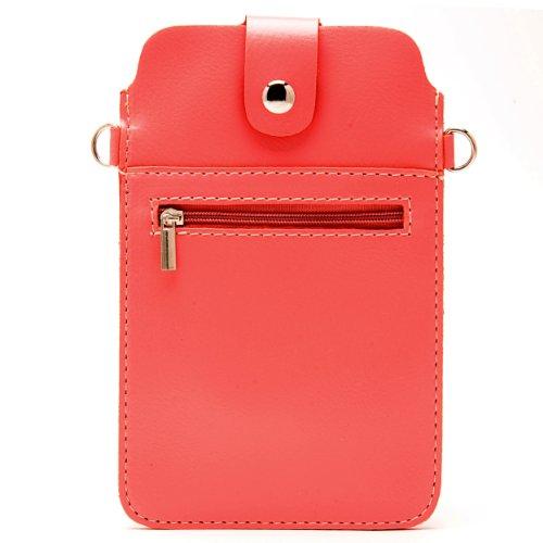 Faux Leather Shoulder Bag Pouch for BlackBerry Classic / Passport / Leap / Z30 / Z10 / Q10 / Porsche Design P'9983 Smartphones (Coral Orange)