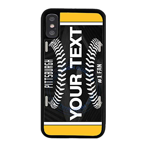 (BRGiftShop Customize Your Own Baseball Team Pittsburgh Rubber Phone Case for Apple iPhone XR)