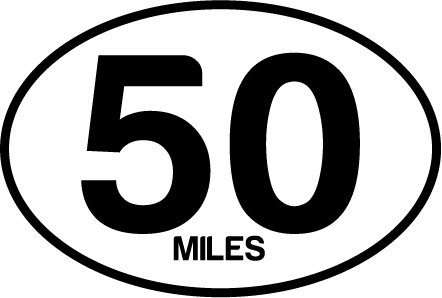 50 Miles Oval Decal (Decal 50)