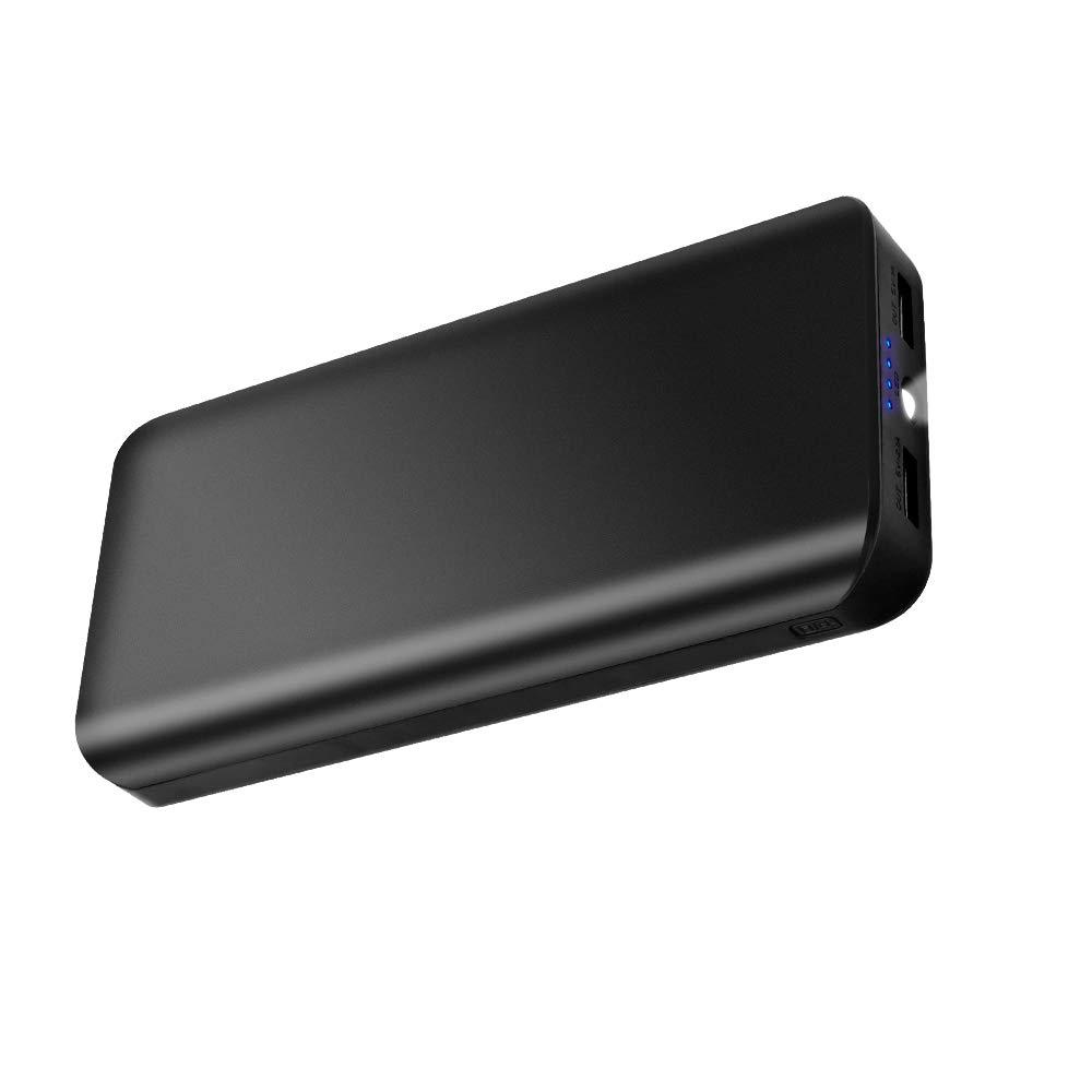 Powerbank 25000mAh 2 USB Ports Externer Akku mit LED-Statusanzeige LED Licht Extrem hohe Kapazitat Power Bank Ladegerät für Samung Huawei Tablet Kameras PSP und alle andere Smartphones SIDA DIRECTOR UK15-825BSW