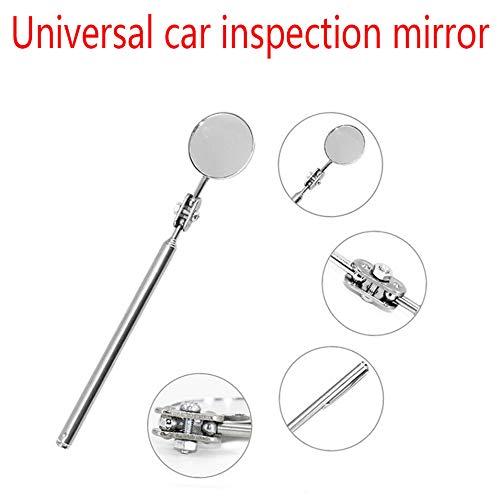 Fauge Universal Automotive Maintenance Inspection Mirror Folding Telescopic Reflector Welding Chassis Inspection Mirror Hand Tool 50Mm