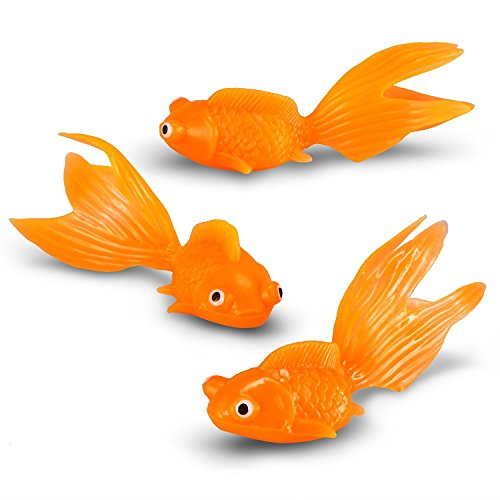 U.S. Toy Plastic Gold Fish Action Figure (24-Count) ()