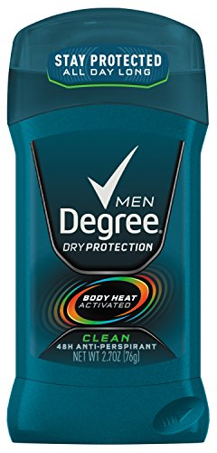 Degree Men sec protection antisudorifique et déodorant, Clean 2,7 oz (Pack de 6)