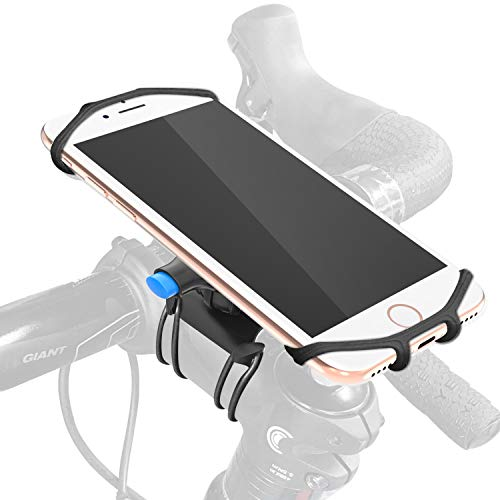 Greallthy Bike Phone Mount,Adjustable Silicon Cell Phone Holder for Bike Handlebar for iPhone X/8/7/6 Plus,Samsung Galaxy S9/S8 Plus, 4.5