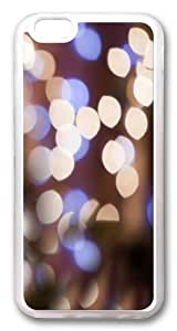Bokeh light TPU Silicone Case Cover for iPhone 6 4.7inch Transparent