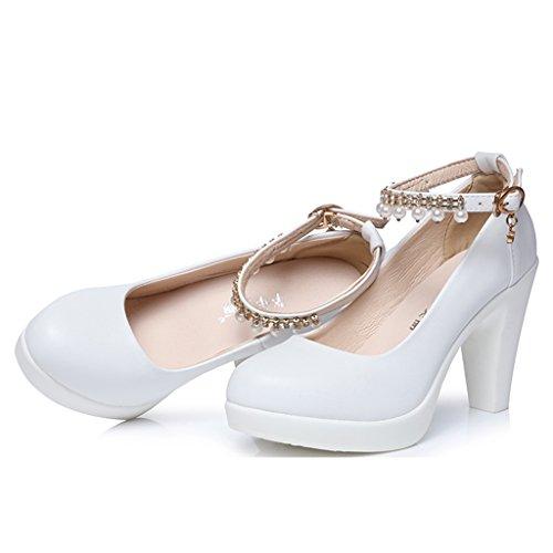 Bianco 11cm 38 Alti Sposa Da High Ruvide colore Plateau Dimensioni Long240mm Donna shoes Banchetto Single Female Scarpe Tacchi 8cm Shoes Con qCvxAwxB