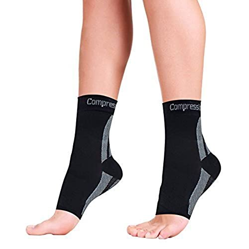 Foot Sleeves (1 Pair  L) Best Plantar Fasciitis Compression For Men U0026 Women    Heel Arch Support/ Ankle Sock