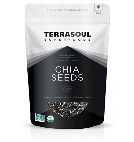 Terrasoul Superfoods Organic Chia Seeds (Raw, Black), 2 Pounds