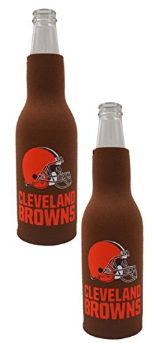Official National Football League Fan Shop Authentic NFL 2-pack Insulated Bottle Cooler (Cleveland Browns)