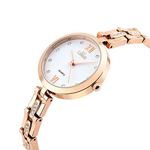 Collodi Stainless Steel Wrist Watch For Women: Luxurious Bracelet Band With Diamond Rhinestones, 30M Waterproof, Quartz Movement, Stylish Design For Formal And Casual Outfits