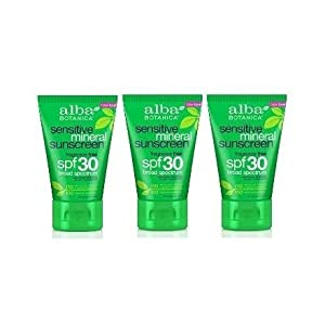 Alba Botanica Very Emollient, Fragrance Free Mineral Sunscreen SPF 30, 4 Ounce