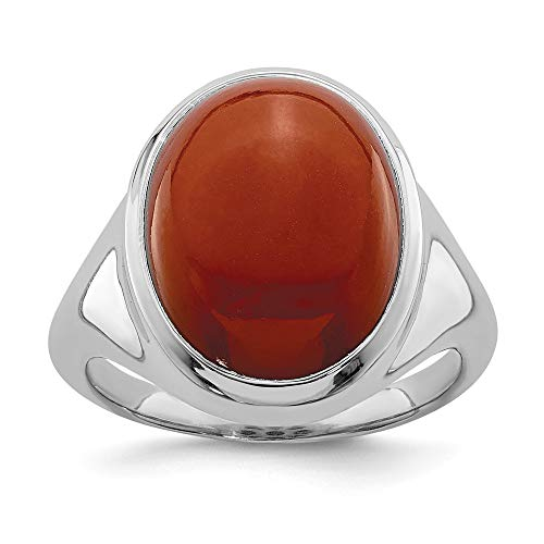 925 Sterling Silver Red Agate Band Ring Size 8.00 Natural Stone Fine Jewelry Gifts For Women For Her