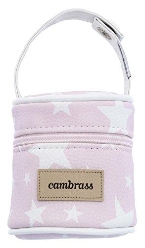 Cambrass Etoile - Porta chupete, 8.5 x 8.5 x 11 cm, color rosa