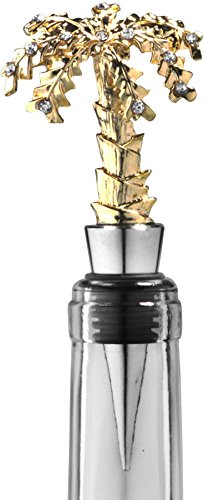 Palais Dinnerware 'Bouchon' Collection, Elegant Wine Bottle Stopper (Jeweled Gold Palm Tree)