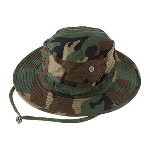 2e6c07116 HWZ Tactical Molle Outdoors Large Brimmed Fishing Hats Sun UV Protection  Quick Drying Bucket Hat Bonnie Cap for Hiking Camping Traveling (Jungle ...