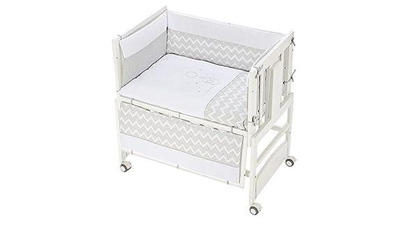 BolíN BolóN - Textil para minicuna de colecho (50 x 80 cm.) baby gris: Amazon.es: Bebé
