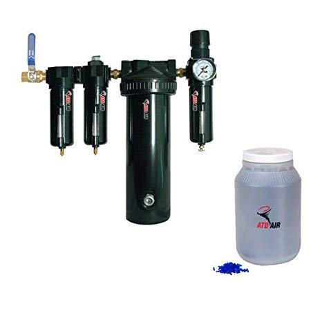 - ATD Tools 7763 Large 30-SCFM Desiccant Air Drying System with 1/2