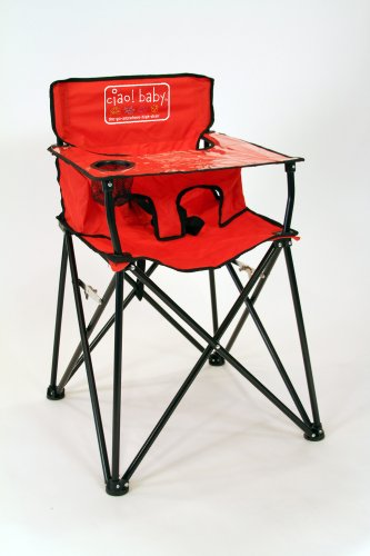 Best Review Of ciao! baby Portable Travel Highchair, Red