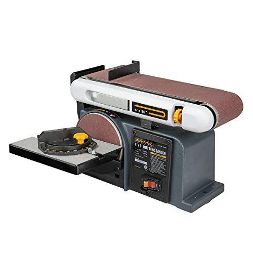 POWERTEC BD4600 Belt Disc Sander For Woodworking | 4 In. x 36 in. Belt Sander with 6 In. Sanding Disc