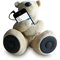Sungale S-T1 Portable Teddy Speaker For iPod, iPhone, Smartphone, MP3, Media Player (Brown)