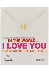 """Dogeared """"Love"""" Love Knot Necklace, 18""""+2"""" Extender"""