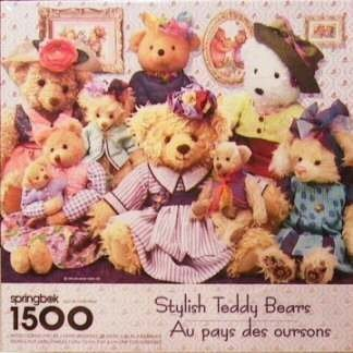 (springbok 1500 Piece Puzzle - Stylish Teddy Bears - 28 3/4 inches by 36 inches)