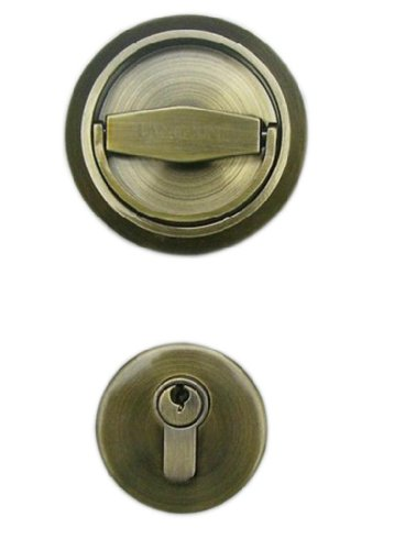 UniDecor Stainless Steel 304 Recessed Cup Handle Privacy Door Locks and Key Finished Antique Bronze(D: 2.95 inch Thickness: 0.52 inch)