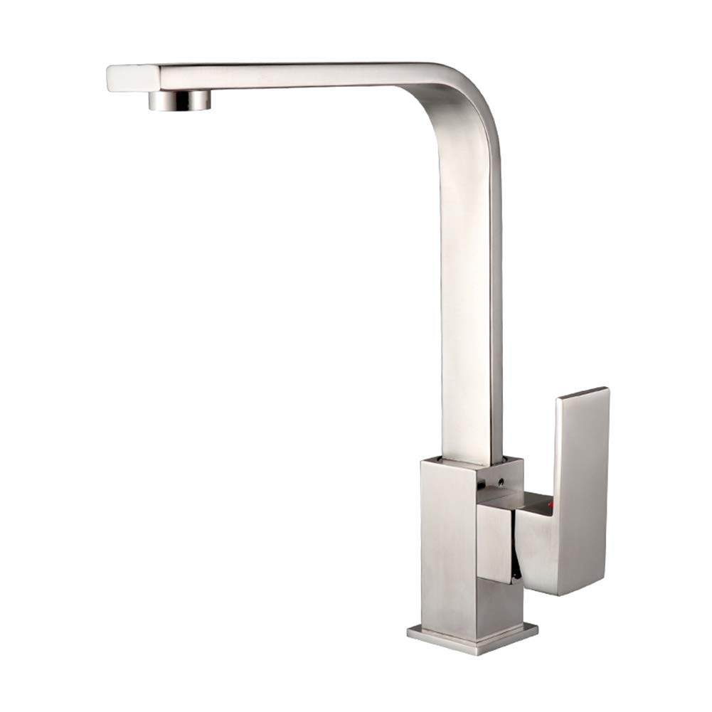 Contemporary Kitchen Taps Single Handle One Hole Brass tap Hot and Cold Water Deck Mounted