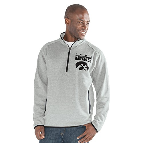 NCAA Herren 1auf 1Quarter Zip Fashion Top, herren, 1 on 1 Quarter Zip Fashion Top, grau meliert, XX-Large