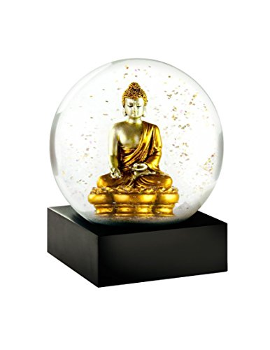 Snow Globe (Gold Buddha) - cool Buddhist snow glove