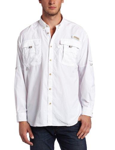 Columbia Men's Bahama II Long Sleeve Shirt, White, - Bahama Sleeve Long