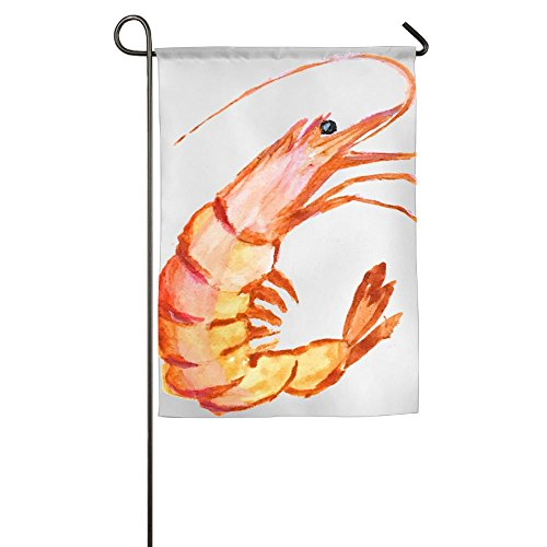 3D Shrimp Wear Resistant Family Party Patio Garden Flags Semi Transparent Polyester Fiber Stand 12x18 Banners