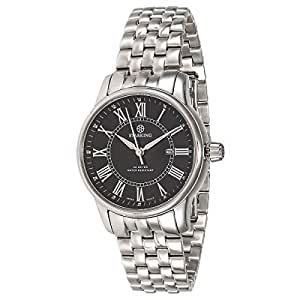Starking Men's Black Dial Stainless Steel Band Watch - BL0845SS12