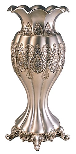 (OK Lighting Paisley Vase, Silver)