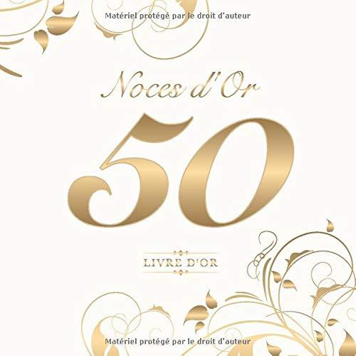 Noces Dor 50 Livre Dor Pour Le 50e Anniversaire De