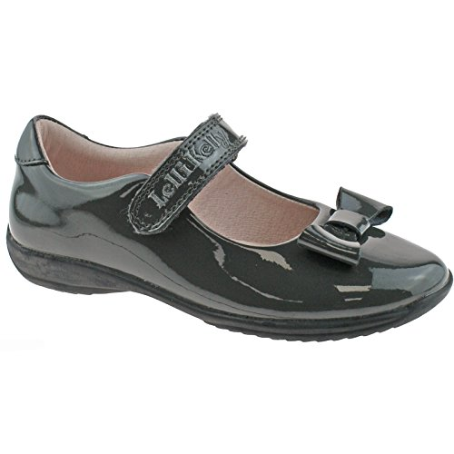 UK Grey Perrie Fitting 29 Shoes 11 LK8206 School Patent Kelly Lelli DR01 EU F q1IZA