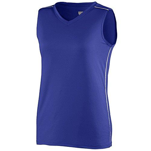 Augusta Sportswear Girls' STORM JERSEY S Purple/White