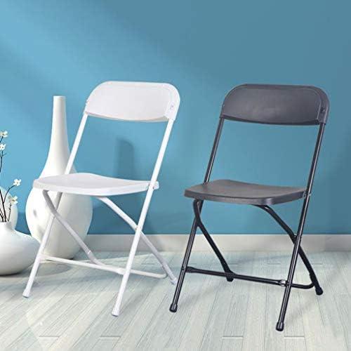 Chaise d'ordinateur Chaise Pliante épaissir Bureau réception Personnel Formation Chaise Chaise d'ordinateur en Plastique Noir PENGJIE
